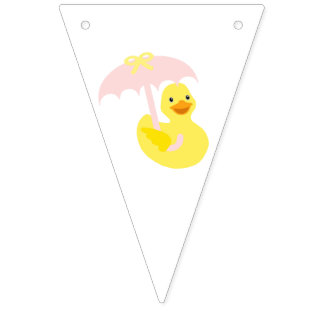 Girl Baby Shower Pink Bunting Flag