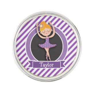 Girl Ballet Dancer; Ballerina; Purple & White