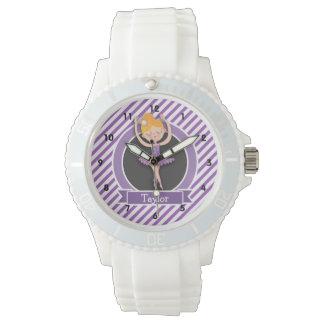 Girl Ballet Dancer; Ballerina; Purple & White Watch