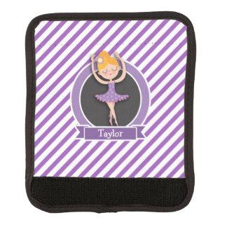 Girl Ballet Dancer; Ballerina; Purple & White Handle Wrap