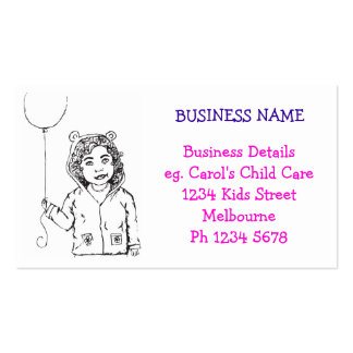 Girl Balloon Business Card