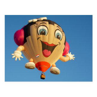 Girl Balloon Postcard
