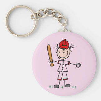 Girl Baseball Player Tshirts and Gifts Keychains