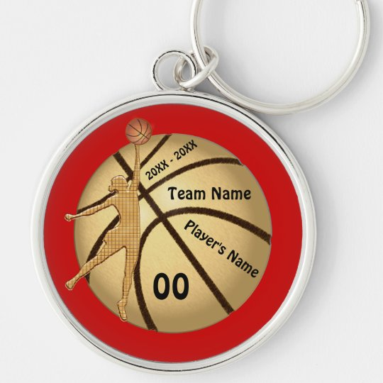Girl Basketball Senior Night Gifts Your Text Key Ring