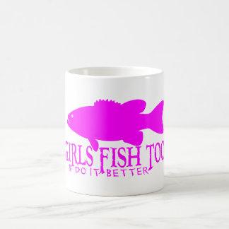 GIRL BASS FISHING MUG