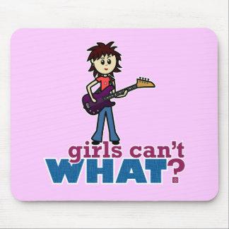 Girl Bass Guitar Player Mouse Pads