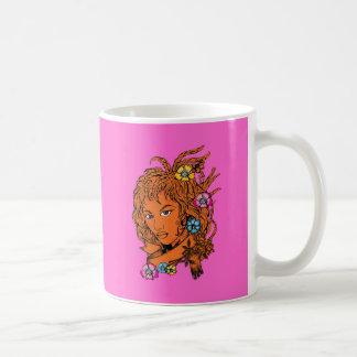 Girl ~ Beautiful Flowers in Hair Mugs