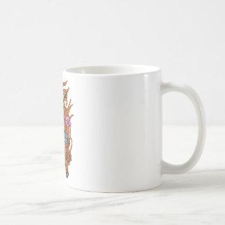 Girl ~ Beautiful Flowers in Hair Coffee Mugs