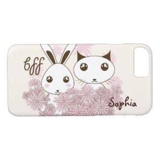 Girl Best Friends Cute Animal Kids Name Ivory iPhone 7 Case