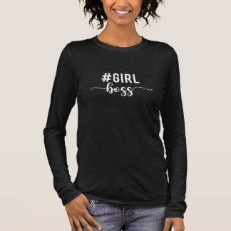 girl boss black long sleeve T-Shirt