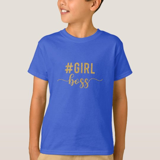 girl boss gold glitter T-Shirt