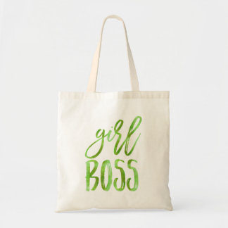 Girl Boss | Lime Green Watercolor