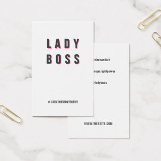Girl Boss template - networking social media Business Card