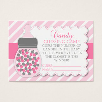 Girl Bottle Baby Shower Guessing Game