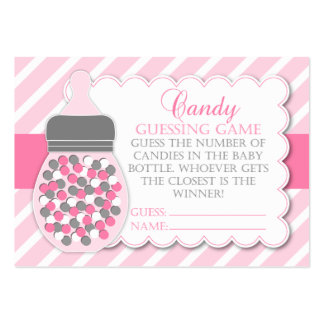 Girl Bottle Baby Shower Guessing Game Pack Of Chubby Business Cards