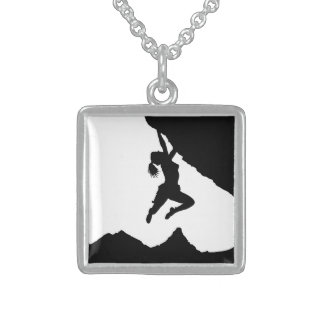 girl boulderer and Matterhorn Sterling Silver Necklace