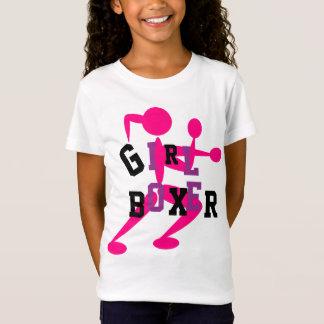 GIRL BOXER  Tshirt Purple Pink ADD NAME on Back