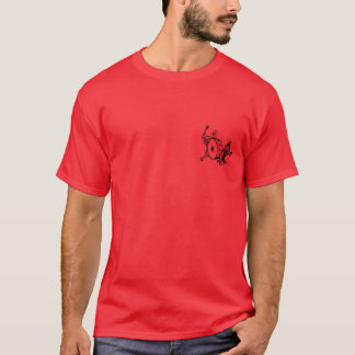 girl, boy, and dogs. red edition. T-Shirt