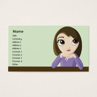 Girl - Business Business Card