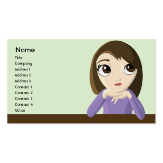 Girl - Business Pack Of Standard Business Cards