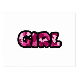 GIRL CAMO POST CARDS