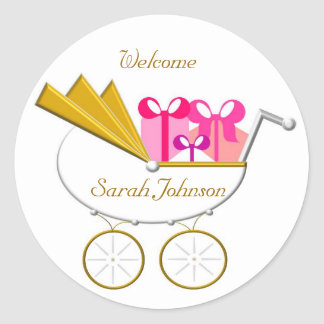 Girl_Carriage Invitation, Welcome Stickers