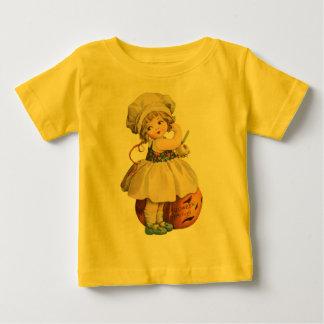 Girl Carving Apple Halloween Baby Shirt