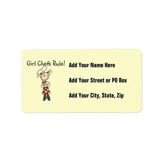 Girl Chefs Rule Address Label