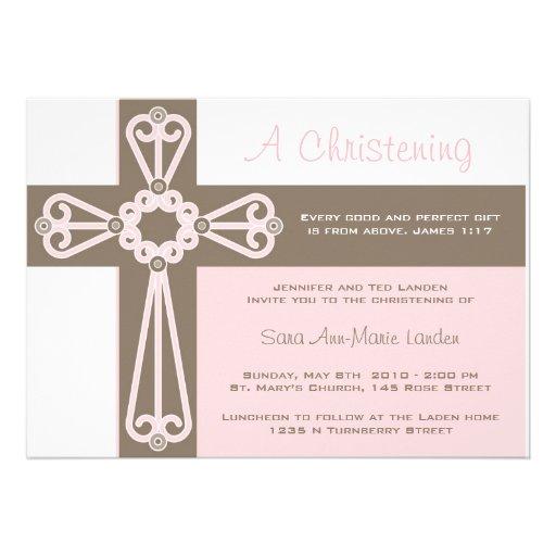 Girl Christening  Invitation