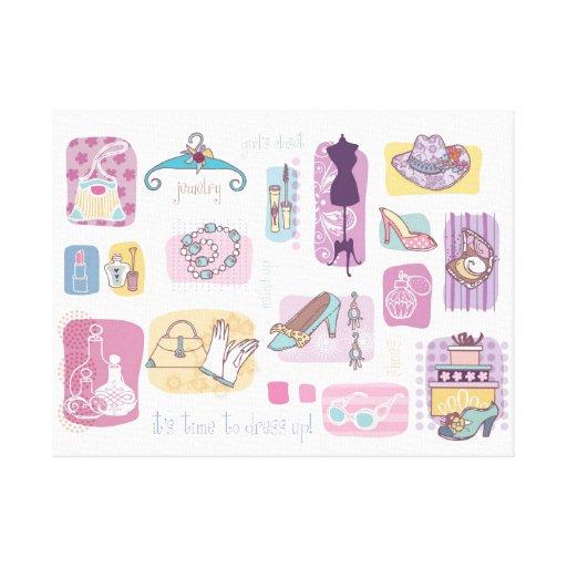 Girl closet canvas prints
