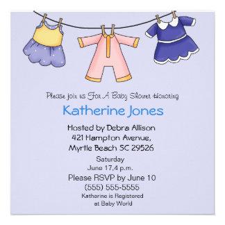 Girl Clothesline Shower Invitation