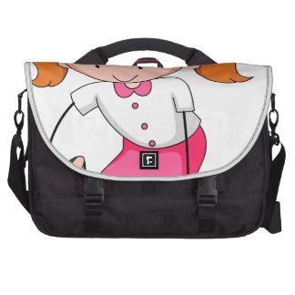 Girl crying laptop computer bag