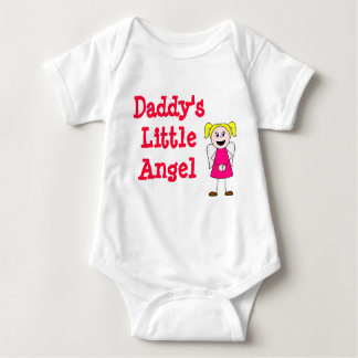girl, Daddy's Little Angel Baby Bodysuit