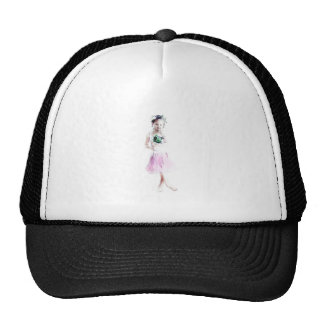 Girl dancer trucker hat