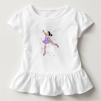 Girl dancing ballet dressed lilac toddler T-Shirt