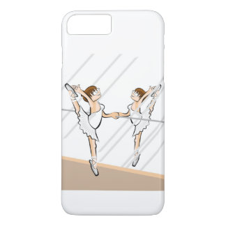 Girl dancing ballet front to the mirror iPhone 8 plus/7 plus case