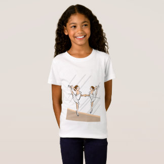 Girl dancing ballet front to the mirror T-Shirt