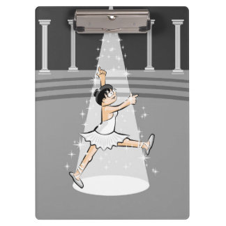Girl dancing ballet in the theater clipboard