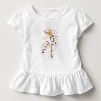 Girl dancing ballet under a rain of flowers toddler T-Shirt