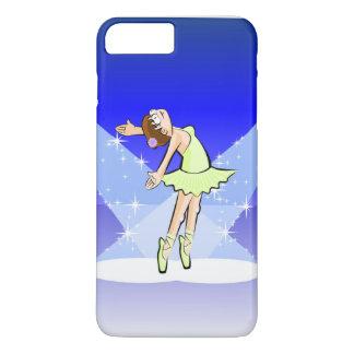 Girl dancing ballet under the illumination centers iPhone 8 plus/7 plus case
