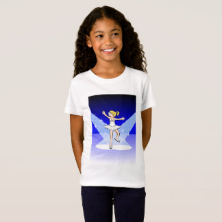 Girl dancing ballet under the incandescent lights T-Shirt