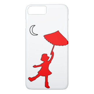 Girl dancing with her umbrella iPhone 7 plus case