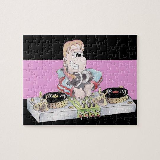 GIRL DJ cartoon jigsaw puzzle