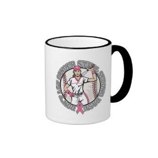 Girl-Don't Let Cancer Steal 2nd Base-Breast Cancer Ringer Mug