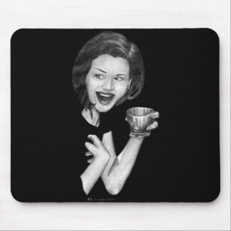 Girl Drinking Mouse Pad