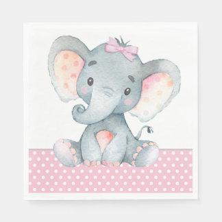 Girl Elephant Baby Shower Paper Napkins Paper Napkin