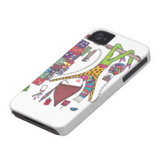 girl explore the city on iphone case
