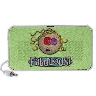 Girl Fabulous Green Doodle Speaker