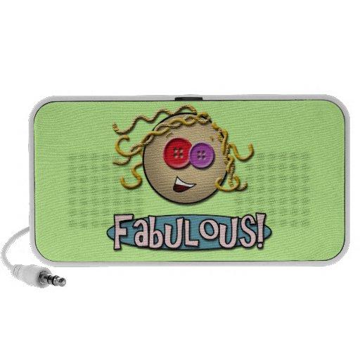 Girl Fabulous ~ Green Doodle Speaker