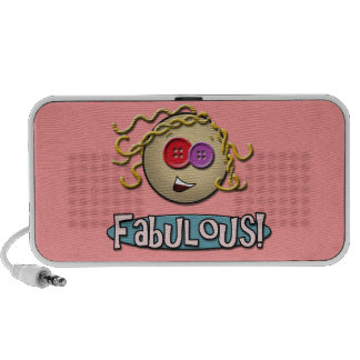 Girl Fabulous ~ Pink Doodle Speaker